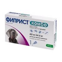 Фиприст Комбо (KRKA) для собак свыше 40 кг от блох, вшей, клещей и власоедов