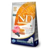 Farmina N&D Low Grain Dog Lamb Blueberry Puppy Medium Maxi для щенков средних и крупных пород беременных и кормящих собак ягненок и черника - 12 кг