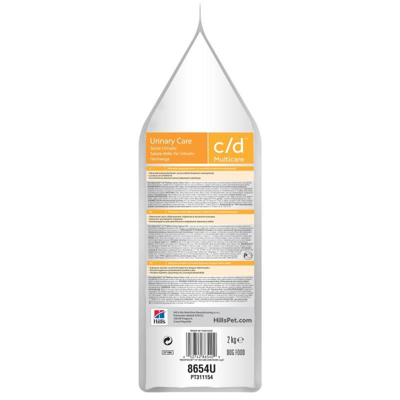Hill's Prescription Diet c/d Multicare Urinary Care - корм для профилактики МКБ и струвитов для собак 2 кг (12 кг)