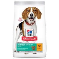 Hill's Adult Perfect Weight Medium - корм для собак средних пород, склонных к набору веса с курицей 12 кг