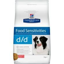Hill's Prescription Diet Canine D/D Skin Support Salmon & Rice сухой корм для собак с пищевой аллергией с лососем и рисом 2 кг (12 кг)