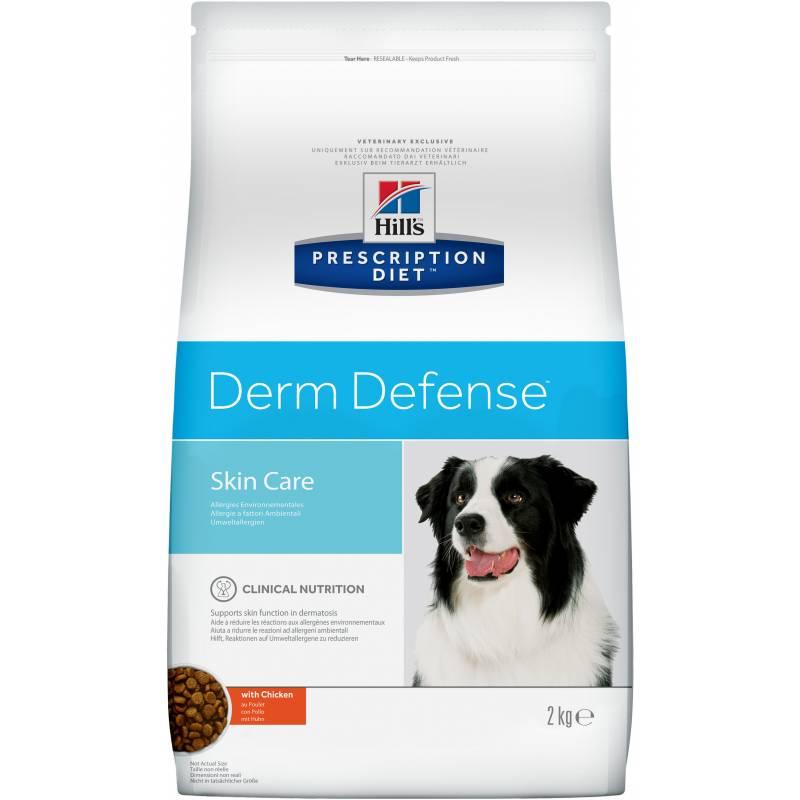 Hill's PD Derm Defense Canine Chicken сухой корм для собак для защиты кожи от аллергенов окружающей среды 2 кг (12 кг)