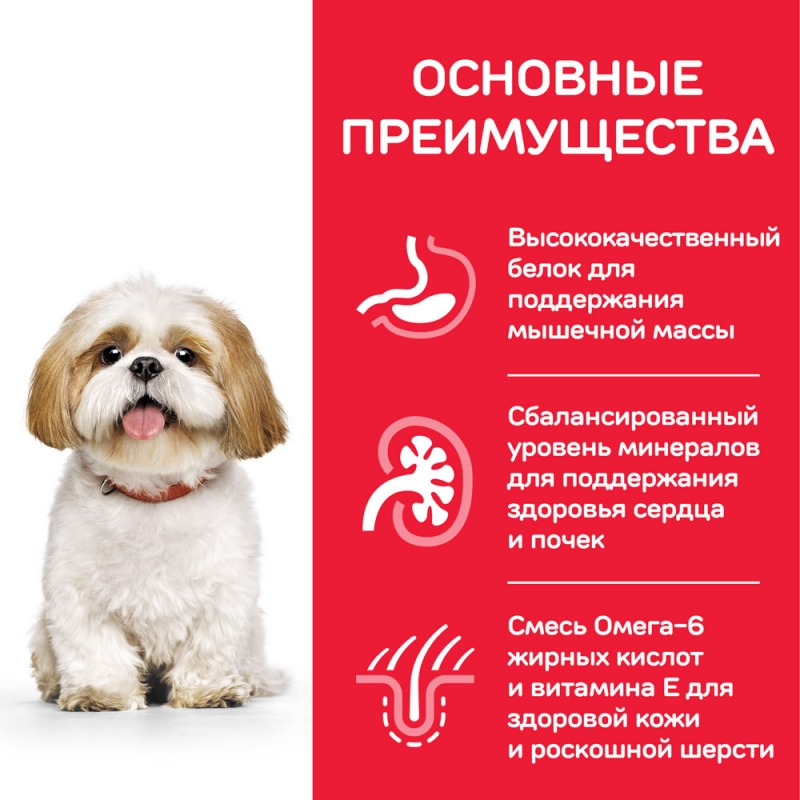 Hill's Science Plan Active Longevity корм для собак мелких пород старше 7 лет с курицей 1,5 кг