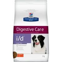 Hill's Prescription Diet i/d Low Fat Digestive Care лечебный корм при расстройствах пищеварения с низким содержанием жира для собак с курицей 1,5 кг (12 кг)
