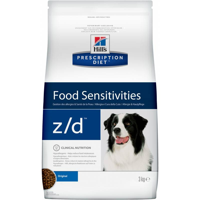 Hill's Prescription Diet z/d Food Sensitivities - сухой корм при пищевой аллергии для собак 3 кг (8 кг)