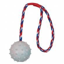 Мяч Trixie для собак на веревке 30 см Ф6 см