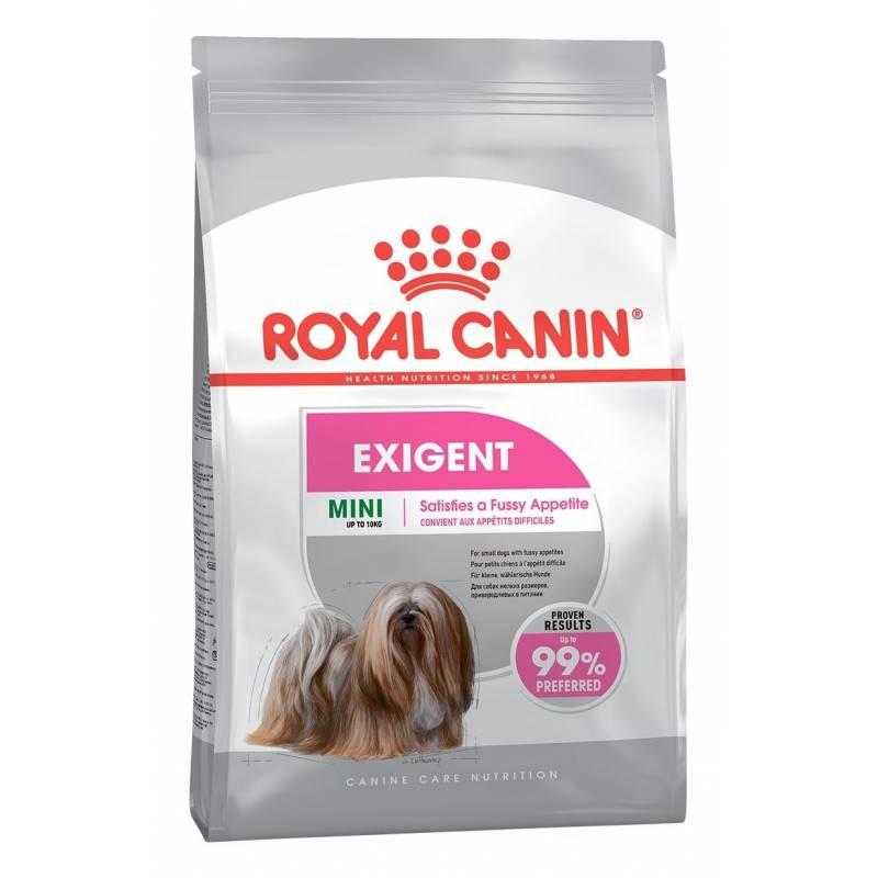 Royal Canin Mini Exigent сухой корм для взрослых собак мелких пород старше 10 месяцев, привередливых в питании 1 кг (3 кг)