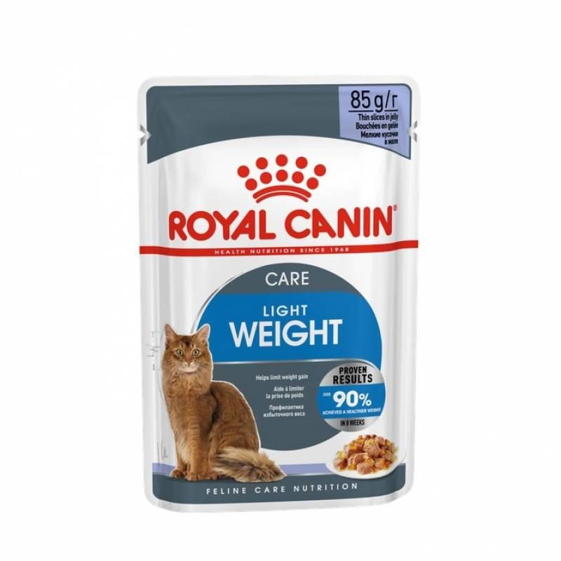 Royal Canin Light Weight Care влажный корм для взрослых кошек со склонностью к избыточному весу в кусочках в желе в паучах - 85 г х 12 шт