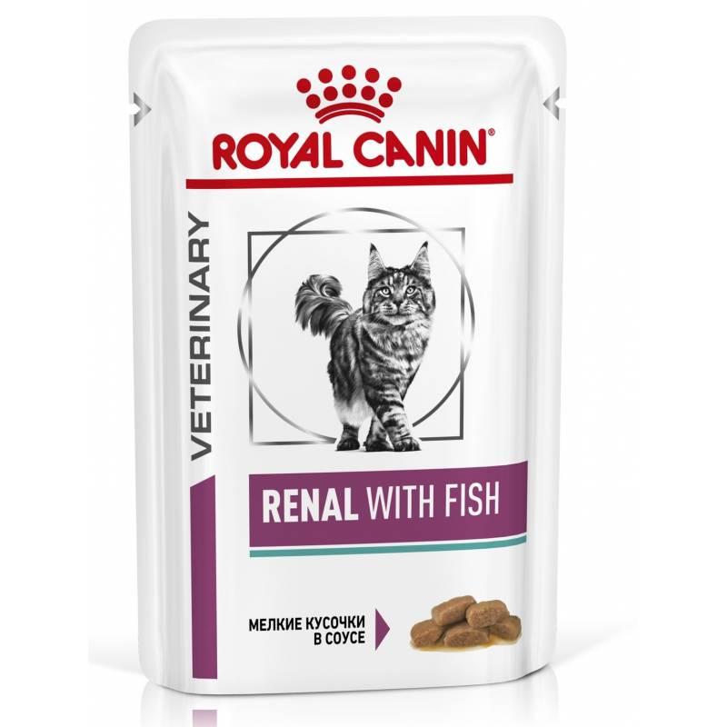Royal Canin Renal feline with Beef лечебный корм для кошек с говядиной при хронической почечной недостаточности (ХПН) 85 гр х 12 шт.