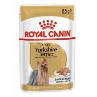 Royal Canin Yorkshire Terrier Adult влажный корм паучи в форме паштета с мясом для собак породы йоркширский терьер старше 10 месяцев - 85 г х 12 шт.