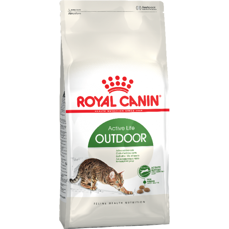 Royal Canin OutDoor 30 cухой корм для взрослых кошек регулярно гуляющих на улице 2 кг (10 кг)