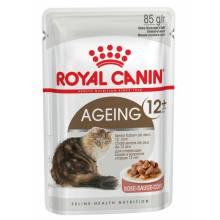 Royal Canin Feline Ageing +12 повседневный влажный корм в пауче с мясом в соусе для пожилых кошек старше 12 лет - 85 г х 12 шт