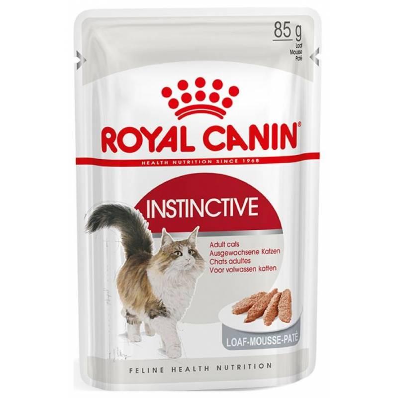 Royal Canin Instinctive влажный корм для кошек в паучах паштет 12 шт х 85 г