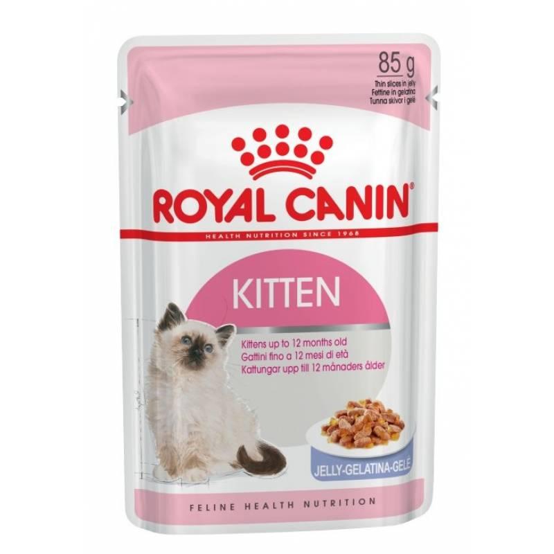 Royal Canin Kitten Instinctive Gelee влажный корм с мясом для котят всех пород с 4 до 12 месяцев - 85 г х 12 шт (желе)