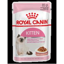 Royal Canin Kitten Instinctive влажный корм с мясом для котят всех пород с 4 до 12 месяцев - 85 г х 12 шт (в соусе)