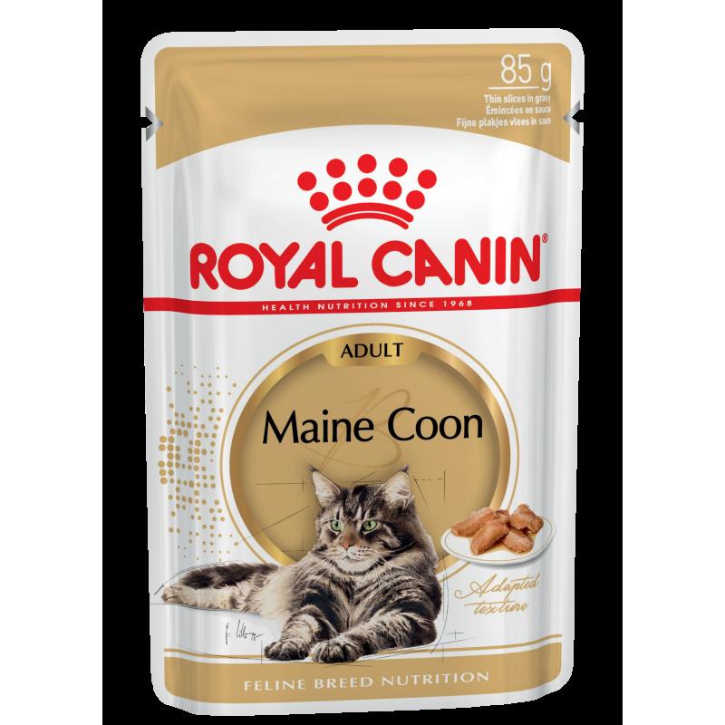 Royal Canin Maine Coon Adult влажный корм в соусе для взрослых кошек породы мейн-кун старше 15 месяцев - 85 г х 12 шт