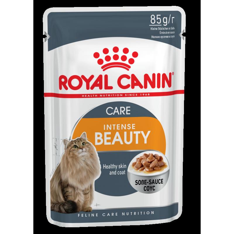 Royal Canin Intense Beauty влажный корм в паучах для кошек с чувствительной кожей или проблемной шерстью (в соусе) - 85 гр х 24 шт