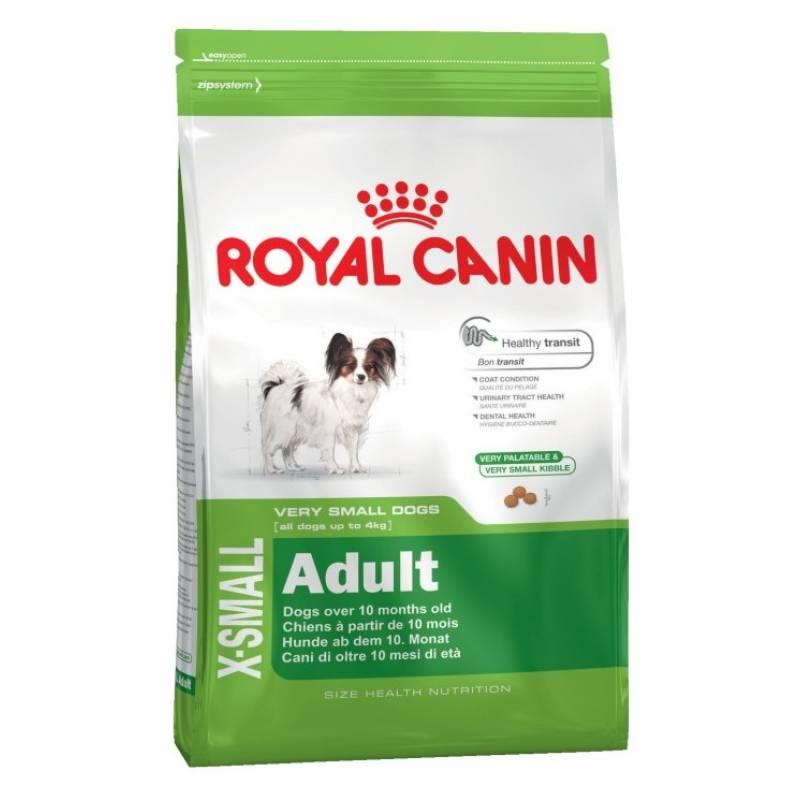 Royal Canin X-Small Adult сухой корм для собак миниатюрных размеров от 10 месяцев до 8 лет - 1,5 кг (3 кг)