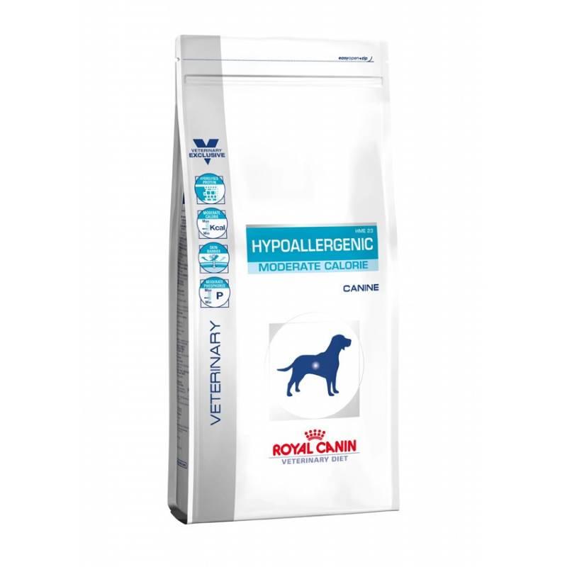 Royal Canin Hypoallergenic HME 23 Moderate Calorie - корм для собак, склонных к полноте, с пищевой непереносимостью 1,5 кг (14 кг)