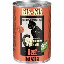 KiS-KiS Canned Food Beef влажный корм для кошек с говядиной - 400 г х 12 шт