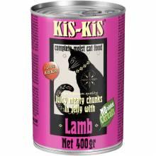 KiS-KiS Canned Food Beef влажный корм для кошек с ягненком - 400 г х 12 шт