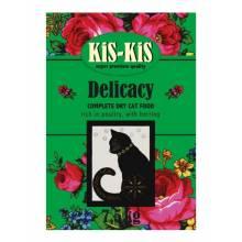 KiS-KiS Delicacy корм для взрослых кошек с гусем, ягненком, рыбой - 450 г (7,5 кг)