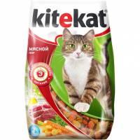 Kitekat сухой корм для взрослых кошек Мясной пир - 15 кг