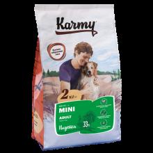 Karmy Мини Эдалт Индейка корм для взрослых собак мелких пород старше 1 года. 2 кг (15 кг)