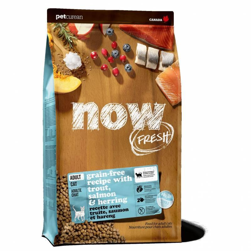 NOW! Fresh Grain Free Fish Adult Recipe CF беззерновой корм с форелью и лососем для взрослых кошек с чувствительным пищеварением 1,36 кг (3,63 кг) (7,26 кг)