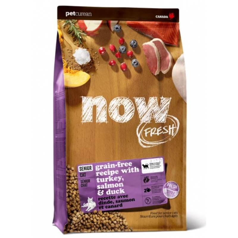 NOW! Fresh Grain Free Senior Cat Recipe сбалансированный холистик корм из филе индейки и утки для взрослых кошек склонных к полноте 1,36 кг (3,63 кг) (7,26 кг)