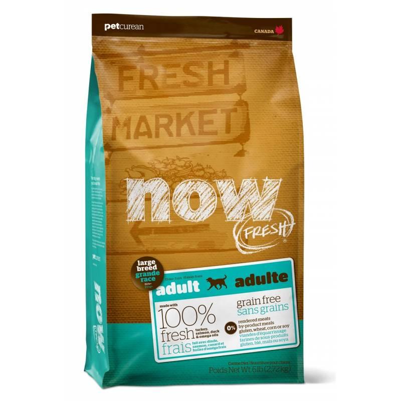 Now Fresh Adult Large Breed Recipe Grain Free беззерновой корм для взрослых собак с индейкой, уткой и овощами 5,45 кг (11,35 кг)