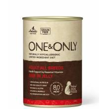 ONE&ONLY Beef влажный корм для собак с говядиной в консервах - 400 г х 6 шт (400 г х 12 шт)