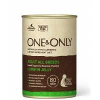 ONE&ONLY Lamb влажный корм для собак с ягненком в консервах - 400 г х 6 шт (400 г х 12 шт)