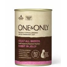 ONE&ONLY Rabbit влажный корм для собак с кроликом в консервах - 400 г х 6 шт