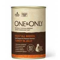 ONE&ONLY Turkey влажный корм для собак с индейкой в консервах - 400 г х 6 шт (400 г х 12 шт)