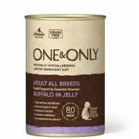 ONE&ONLY Buffalo влажный корм для собак с буйволом в консервах - 400 г х 6 шт (400 г х 12 шт)