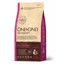 ONE&ONLY duck & Rice Adult Indoor сухой корм для домашних кошек, утка с рисом - 400 гр (2 кг)