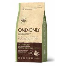 ONE&ONLY turkey & Rice Adult Sterilised сухой корм для стерилизованных кошек, индейка с рисом  - 400 гр (2 кг)