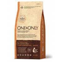 ONE&ONLY turkey & Rice Kitten сухой корм для котят, индейка с рисом - 400 гр (2 кг)