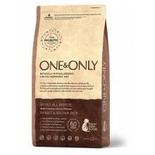 ONE&ONLY rabbit & Rice Adult All Breeds сухой корм для собак всех пород, кролик с рисом - 1 кг (3 кг), (12 кг)