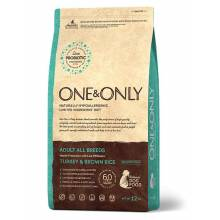 ONE&ONLY turkey & Rice Adult All Breeds сухой корм для собак всех пород, индейка с рисом - 1 кг (3 кг), (12 кг)