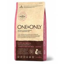 ONE&ONLY turkey & Rice Puppy All Breeds сухой корм для щенков всех пород, индейка с рисом - 1 кг (3 кг), (12 кг)