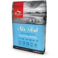 Orijen 6 Fish Cat сухой корм для кошек всех пород и возрастов с рыбой 340 гр  (1,8 кг ), (5,4 кг)