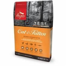 Orijen Cat & Kitten сухой корм для кошек и котят всех пород и возрастов с цыпленком, индейкой, рыбой и яйцом 1,8 кг (5,4 кг) (17 кг)