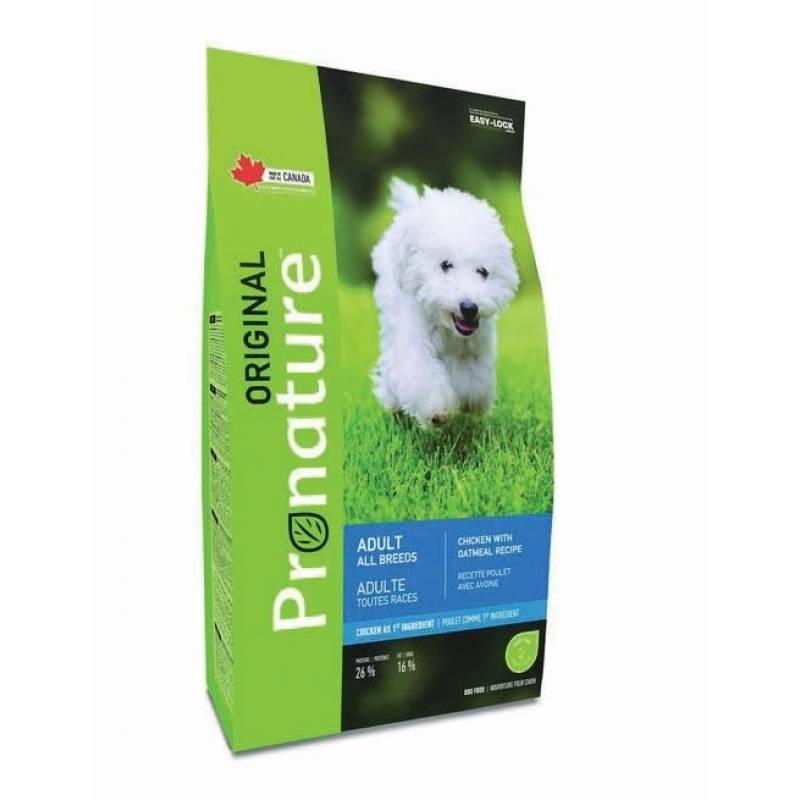 Pronature Original сухой корм для взрослых собак с курицей и овсом 11,3 кг (20 кг)