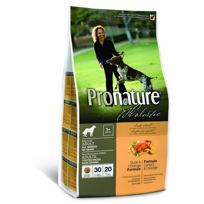 Pronature Holistic беззерновой корм для собак с уткой и апельсином 13,6 кг