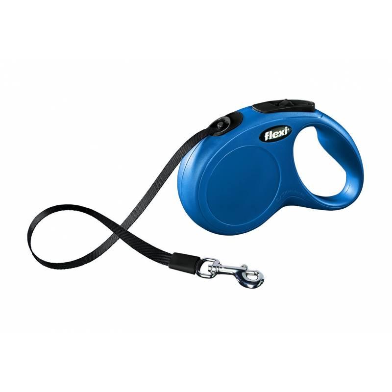 FLEXI рулетка New Classic M/L (до 50 кг) 5 м лента синяя