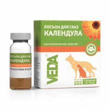 """Veda лосьон для глаз зоогигиеническое средство для собак и кошек """"Календула"""", 3 шт х 10 мл"""