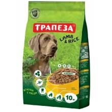 Трапеза для собак ягненок с рисом 10 кг