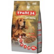 Трапеза Оптималь сухой корм для собак, создан для тех животных, которые вынуждены жить в городе 10 кг